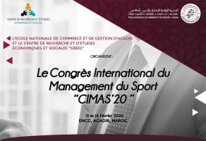 Appel à communication du Congrès International du Management du Sport CIMAS 2020