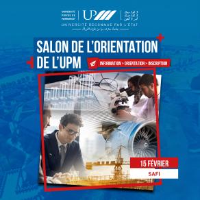 Salon de l'orientation de l'UPM à Safi - Samedi 15 février