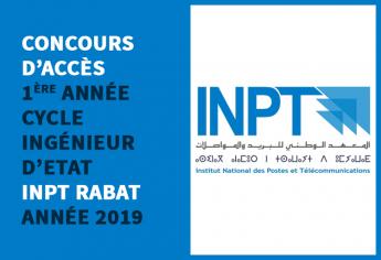 Concours d'accès en 1ère année du cycle d'ingénieur d'Etat de l'INPT Rabat 2019
